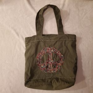 Mudd Peace Sign Tote Bag